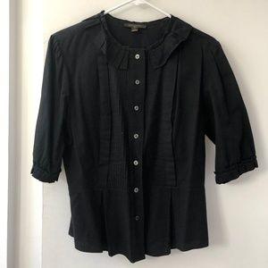 Louis Vuitton Black Cotton Blouse